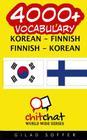 4000+ Korean - Finnish Finnish - Korean Vocabulary Cover Image