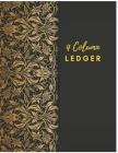 4 Column Ledger: Vintage Black Accounting Ledger Books: Accounting Ledger Sheets, General Ledger Accounting Book, 4 Column Record Book: Cover Image