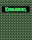 120 Page Handwriting Practice Book with Green Alien Cover Emmanuel: Primary Grades Handwriting Book Cover Image