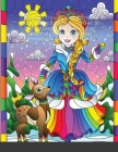 Christmas Princess Coloring Book: An Adult Coloring Book Featuring Over 30 Pages of Giant Super Jumbo Large Designs of Charming Christmas Princesses t Cover Image