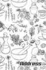 Address.: Address Book. (Vol. B08) Herb Design Glossy Cover, Large Print, Font, 6
