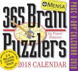 Mensa 365 Brain Puzzlers Page-A-Day Calendar 2018 Cover Image