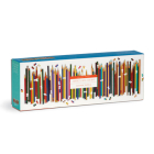 Frank Lloyd Wright Colored Pencils Shaped 1000 Piece Panoramic Puzzle Cover Image