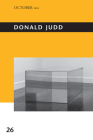 Donald Judd (October Files) Cover Image