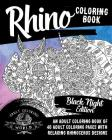 Rhino Coloring Book: An Adult Coloring Book of 40 Adult Coloring Pages with Relaxing Rhinoceros Designs (Animal Coloring Books for Adults #37) Cover Image