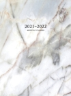 2021-2022 Monthly Planner: Large Two Year Planner with Marble Cover (Volume 3 Hardcover) Cover Image