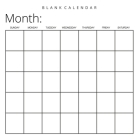 Blank Calendar: White Background, Undated Planner for Organizing, Tasks, Goals, Scheduling, DIY Calendar Book Cover Image