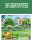 Summer Landscapes Scenes Coloring Book: An Adult Coloring Book Featuring Over 30 Pages of Giant Super Jumbo Large Designs of Beautiful Peaceful Landsc Cover Image