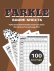Farkle Score Sheets: Farkle Score Pads 100 pages for Farkle Classic Dice Game - Nice Obvious Text - Large size 8.5*11 inch (Gift) Cover Image
