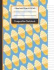 Composition Notebook: Blue & Yellow Ice Cream College Ruled Notebook for Girls, Kids, School, (Back To School Notebooks) Cover Image