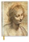 Leonardo da Vinci: Detail of the Head of the Virgin (Blank Sketch Book) (Luxury Sketch Books) Cover Image