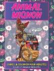 Livres à colorier pour adultes - Fleurs et animaux réalistes - Animal mignon Cover Image