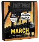 March Twin Pins: Two Enamel Pins Cover Image
