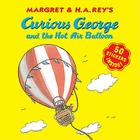 Curious George and the Hot Air Balloon (8x8 with stickers) Cover Image