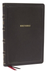 Nkjv, Deluxe Thinline Reference Bible, Large Print, Leathersoft, Black, Thumb Indexed, Red Letter Edition, Comfort Print: Holy Bible, New King James V Cover Image