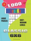 1,000 + Sudoku Classic 6x6: Logic puzzles easy - medium levels Cover Image