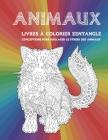 Livres à colorier Zentangle - Conceptions pour soulager le stress des animaux - Animaux Cover Image