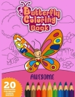 Awesome Butterfly Coloring Book: Beautiful Dover natural butterfly coloring book Cover Image