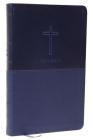 NKJV, Value Thinline Bible, Standard Print, Imitation Leather, Blue, Red Letter Edition Cover Image