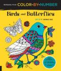 Brilliantly Vivid Color-by-Number: Birds and Butterflies: Guided coloring for creative relaxation--30 original designs + 4 full-color bonus prints--Easy tear-out pages for framing (Brilliantly Vivid Color by Number) Cover Image