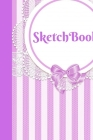 Sketchbook: Large Cute Pretty Sketchbook notebook Lace Design Gifts Purple Stripes for Girls Women Adults Teens Mothers As Gifts T Cover Image