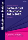 Blackstone's Statutes on Contract, Tort & Restitution 2021-2022 Cover Image