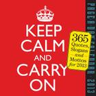 Keep Calm and Carry On 2013 Page-A-Day Calendar Cover Image