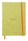 Rhodia Goalbook 6 X 8 1/4 A5 Anise Green Cover Bullet Journal Cover Image