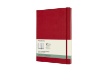 Moleskine 2021 Weekly Planner, 12M, Extra Large, Scarlet Red, Hard Cover (7.5 x 9.75) Cover Image