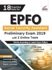 18 Practice Sets for EPFO Social Security Assistant Preliminary Exam 2019 with 3 Online Tests Cover Image