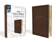 NIV, Holy Bible, Soft Touch Edition, Imitation Leather, Brown, Comfort Print Cover Image