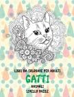 Libri da colorare per adulti - Livello facile - Animali - Gatti Cover Image