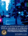 Americans with Disabilities Act Title III Regulations Cover Image