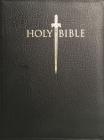 Kjver Sword Study Bible Giant Print Black Genuine Leather Indexed: King James Version Easy Read Cover Image