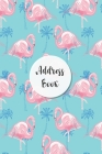Address Book: Blue Background and Pink Flamingo Design - Keep Your Important Contacts in The One Organizer Name, Addresses, Email, P Cover Image