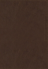NVI Santa Biblia, Lucado, Palabra de Aliento, Leathersoft, Café, Interior a DOS Colores Cover Image