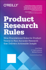 Product Research Rules: Nine Foundational Rules for Product Teams to Run Accurate Research That Delivers Actionable Insight Cover Image