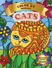 Coloring Book - Color by Numbers - Mosaic Cats: Coloring with numeric worksheets, Color by number for Adults and Children with colored pencils.Advance Cover Image
