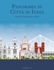 Panorama di Città in India Libro da Colorare per Adulti Cover Image