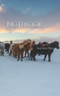 Notebook: Iceland Horses in Winter Cover Image