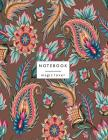 Notebook magic lover: Flower on brown and Dot Graph Line Sketch pages, Extra large (8.5 x 11) inches, 110 pages, White paper, Sketch, Draw a Cover Image