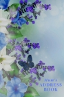 Mum's Address Book: Blue Flowers - Address Book for Names, Addresses, Phone Numbers, E-mails and Birthdays Cover Image