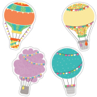 Up and Away Hot Air Balloons Cut-Outs Cover Image