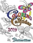 Coloring Calendar 2019 Butterflies Cover Image