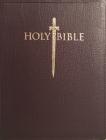 Kjver Sword Study Bible Giant Print Burgundy Genuine Leather: King James Version Easy Read Cover Image