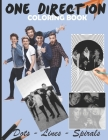 One Direction Dots Lines Spirals Coloring Book: Great Picture for the girls and teens who love One Direction Cover Image