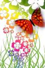 Butterfly And Flowers Notebook Cover Image
