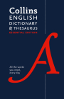 Collins English Dictionary and Thesaurus: Essential edition (Collins Essential Editions) Cover Image