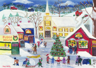 Yuletide Village Deluxe Boxed Holiday Cards Cover Image