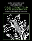 Adult Coloring Book for Young Girl - 100 Animals - Stress Relieving Designs Cover Image